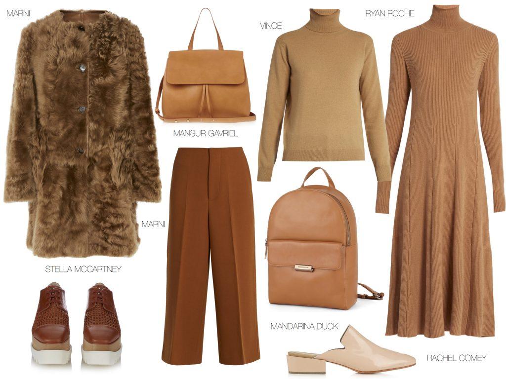 Пальто MARNI, сумка MANSUR GAVRIEL, свитер VINCE, платье RYAN ROCHE, туфли RACHEL COMEY, рюкзак MANDARINA DUCK, брюки MARNI, ботинки STELLA MCCARTNEY